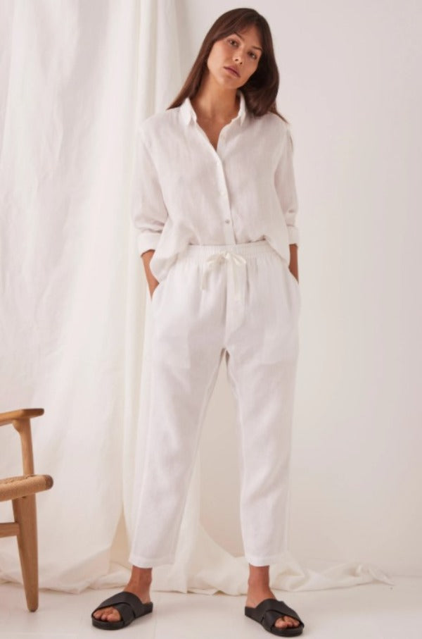 Assembly Label Anya Linen Pant White