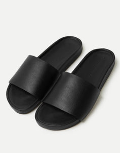 Assembly Label Single Strap Slide Womens Black