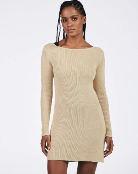 Charlie Holiday Juliet Knit Dress Oat