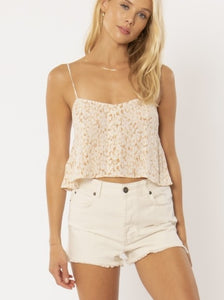 Amuse Society Blissed Out Woven Cami White Cap