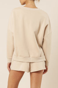 Nude Lucy Carter Classic Oversized Sweat Sand