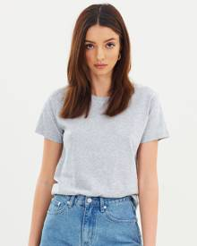 Nude Lucy Harper Basic Crew Neck Tee Grey Marle