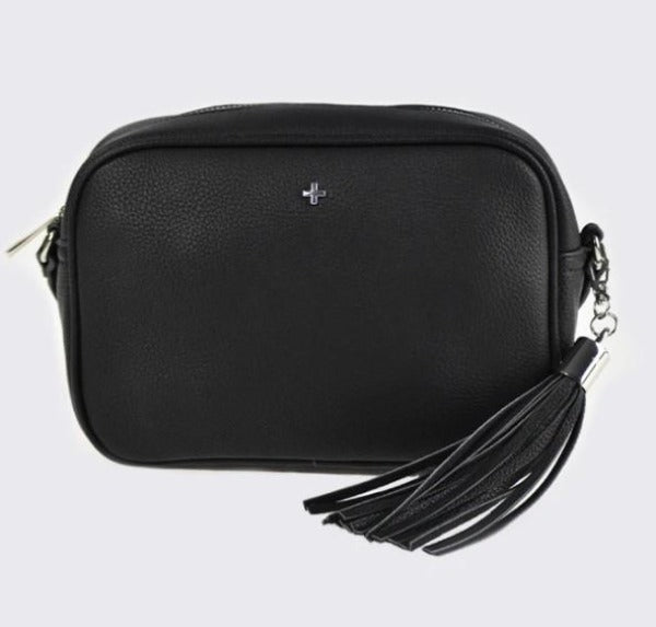PETA + JAIN Gracie Crossbody Camera Bag Black Pebble/Silver