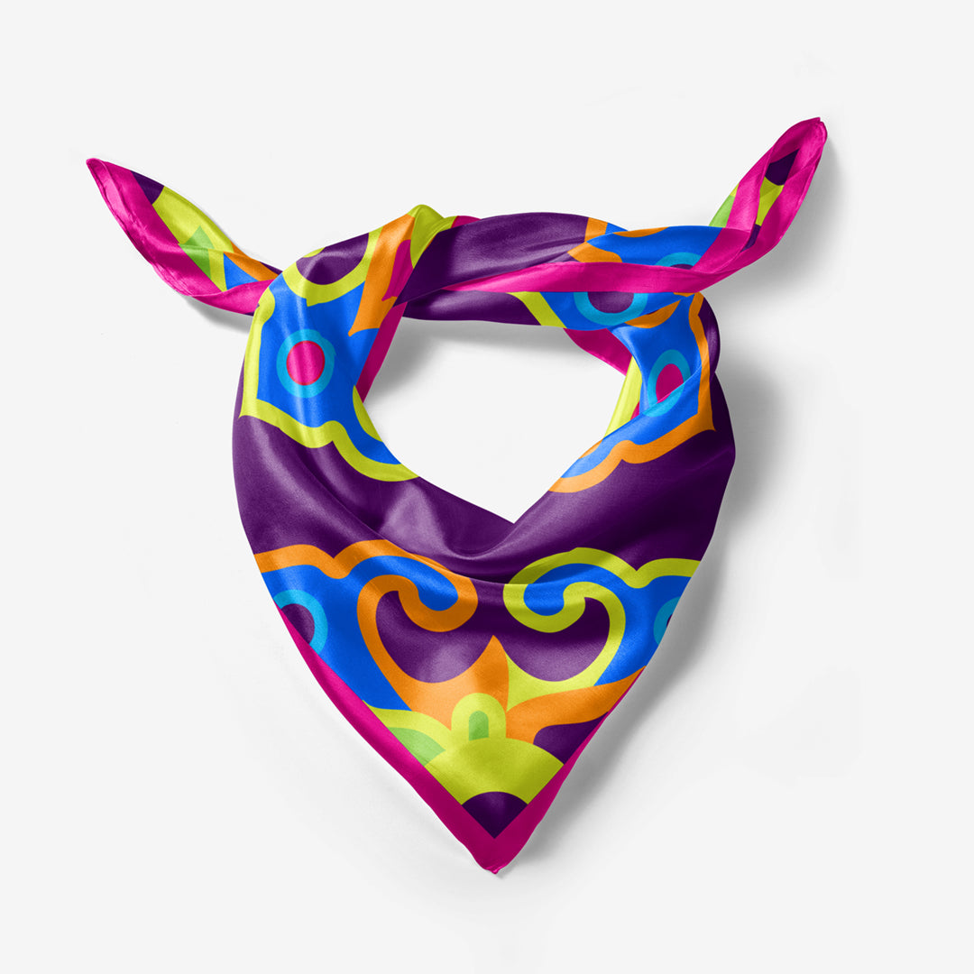 Nomad Flower - Purple Silk Scarf