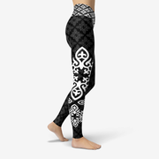 Nomad Black Printed Yoga Leggings