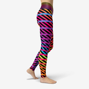 Eastern Stripes Printed Yoga Leggings