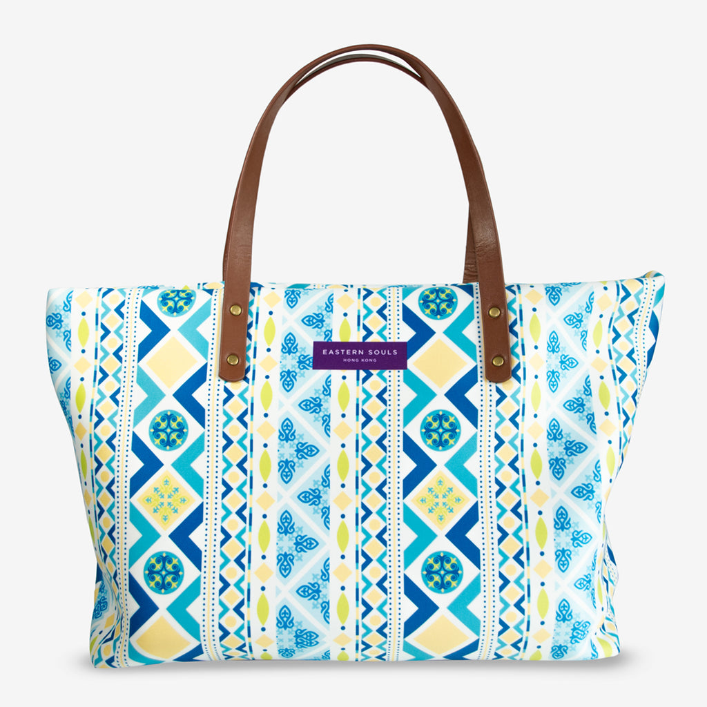 Modern Vintage Pattern Large Tote Bag