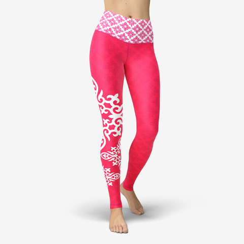 Nomad Hot Pink Printed Yoga Leggings