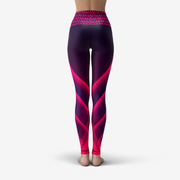 Pink Flames Printed Yoga Leggings