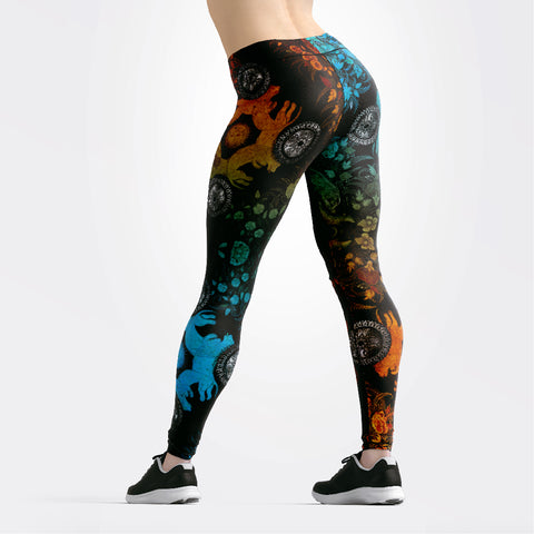 Shields & Flowers Print Leggings