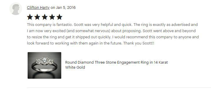 Flawless Carat Customer Review_Clifton H