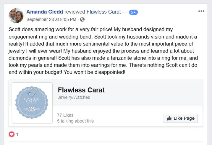 Flawless Carat Customer Review - Amanda G