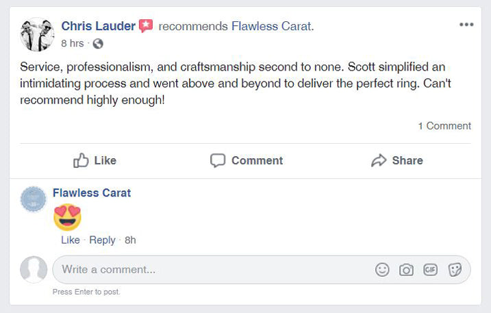 Flawless Carat Customer Review_Chris L