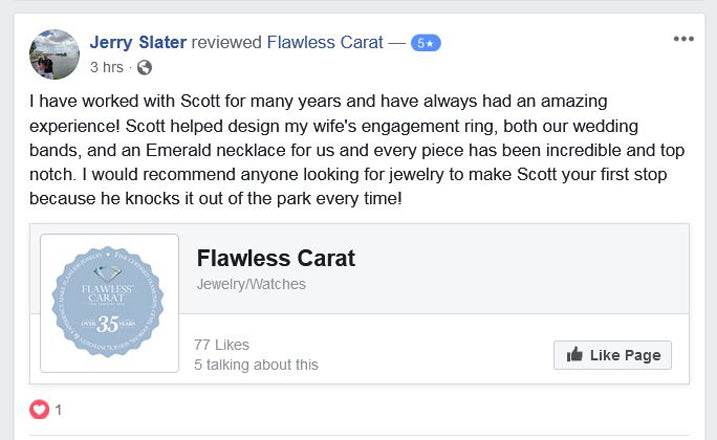 Flawless Carat Customer Review - Jerry S