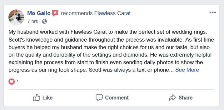 Flawless Carat Customer Review - Mo G