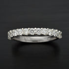 18 Karat White Gold Diamond Wedding Band - FlawlessCarat