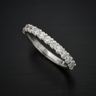 18 Karat White Gold Diamond Wedding Band