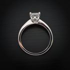 18 Karat White Gold Engagement Ring with Radiant cut Diamond - FlawlessCarat