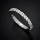 French Cut Pave Diamond Weddind Band in Gold