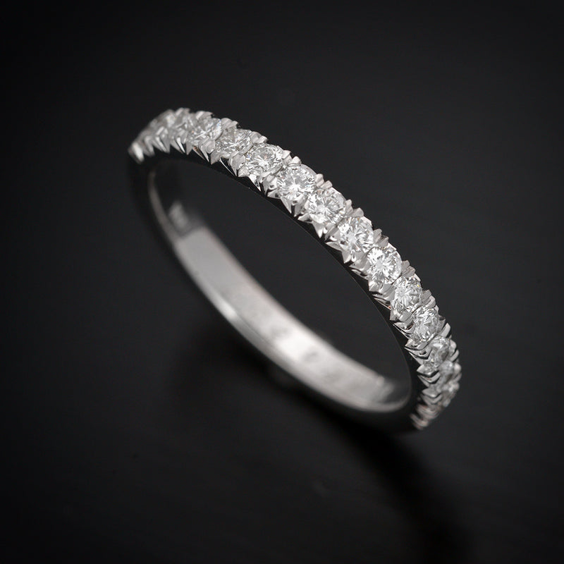 French Cut Pave Diamond Weddind Band - FlawlessCarat