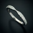 Curved Round Diamond Wedding Band - FlawlessCarat