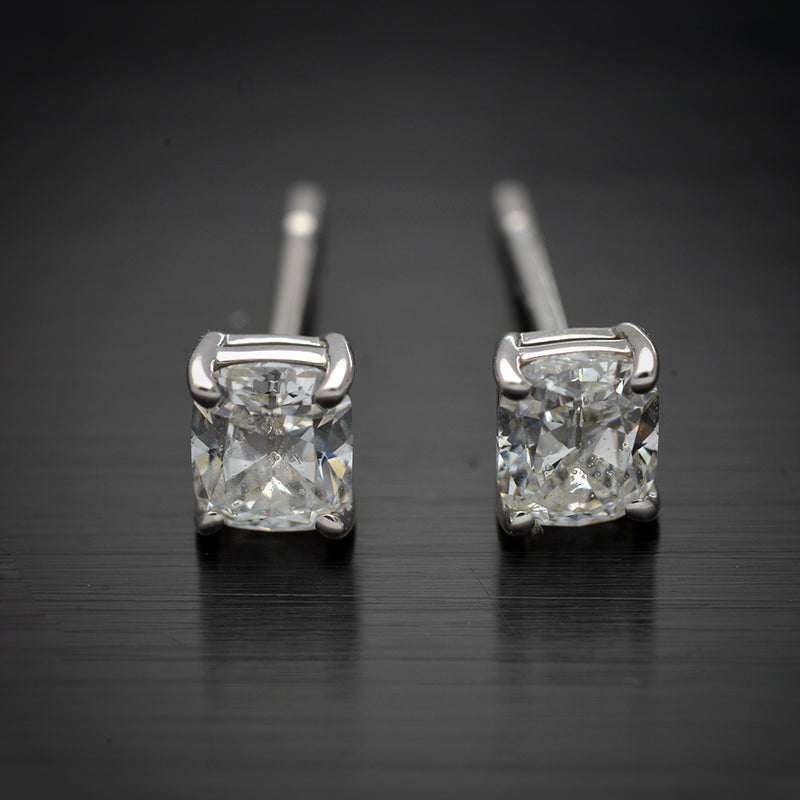 Cushion Cut Diamond Studs