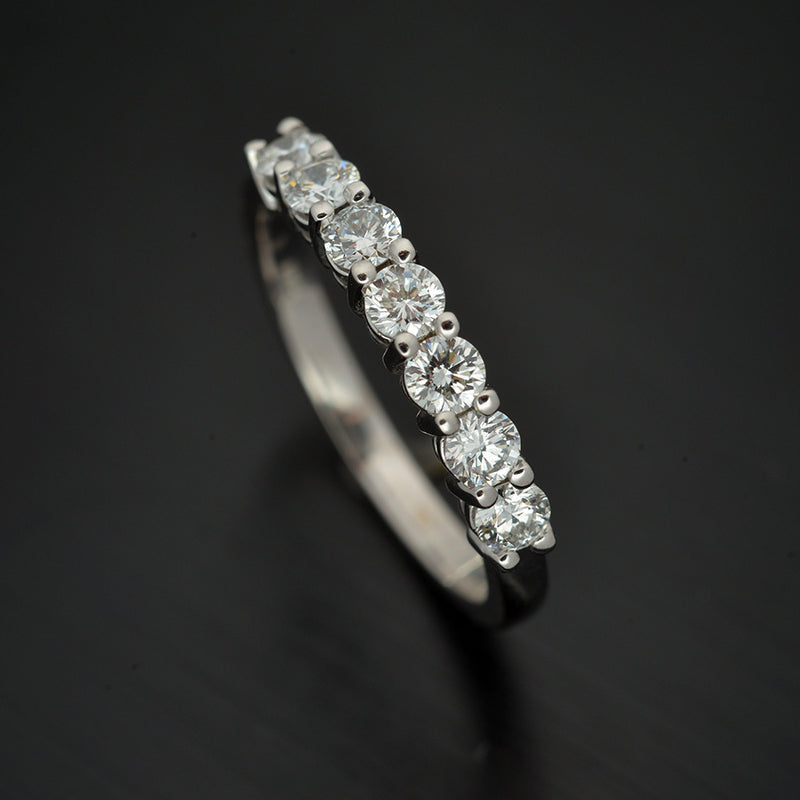 Gold Seven Stone Shared Prong Diamond Band - FlawlessCarat