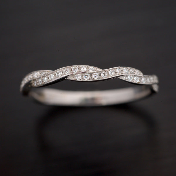 White Gold Diamond Wedding Band - FlawlessCarat