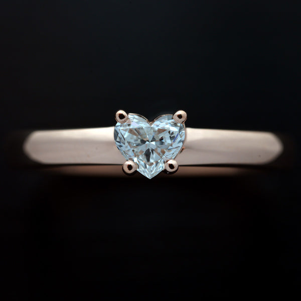 Heart  Solitaire Diamond Ring