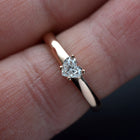Heart  Solitaire Diamond Ring - FlawlessCarat