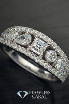 18kt Ladies Diamond Wedding Band - FlawlessCarat