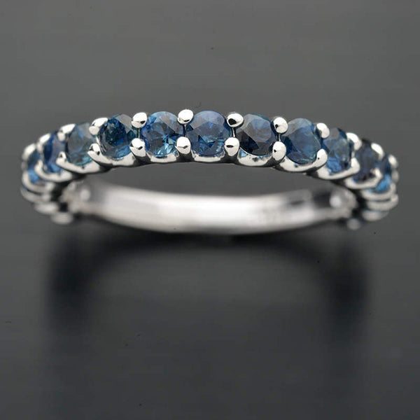 Natural Blue Sapphire Wedding Band - FlawlessCarat
