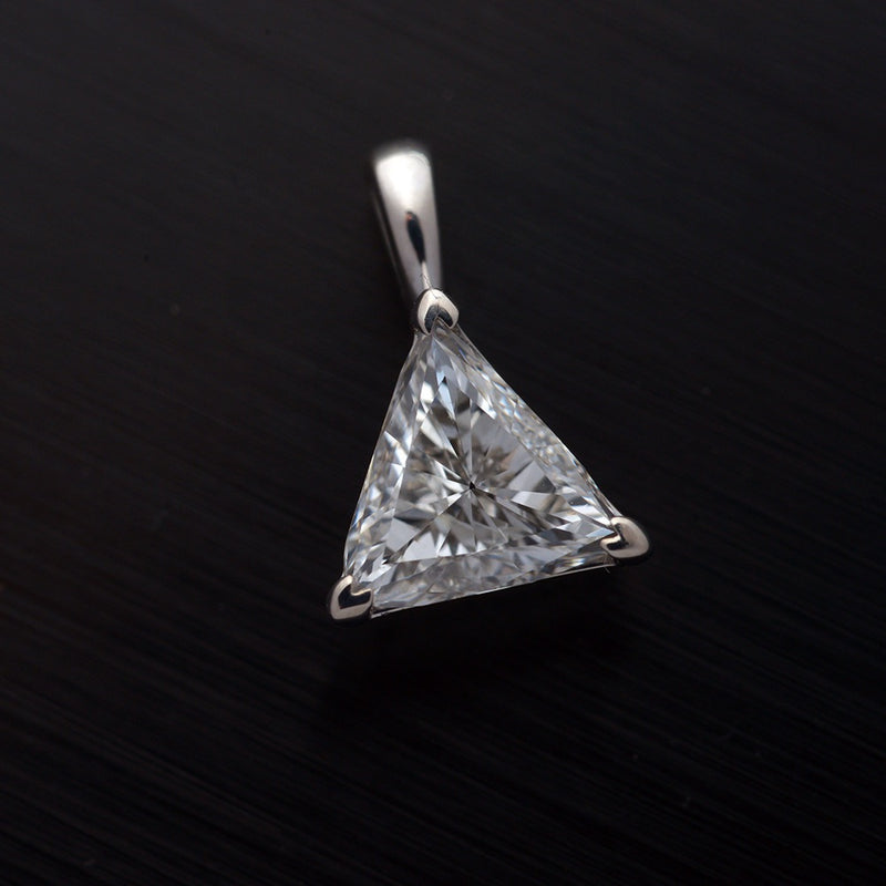 Trilliant Diamond Solitaire Pendant