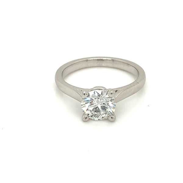 1 carat Natural  Round Diamond Solitaire