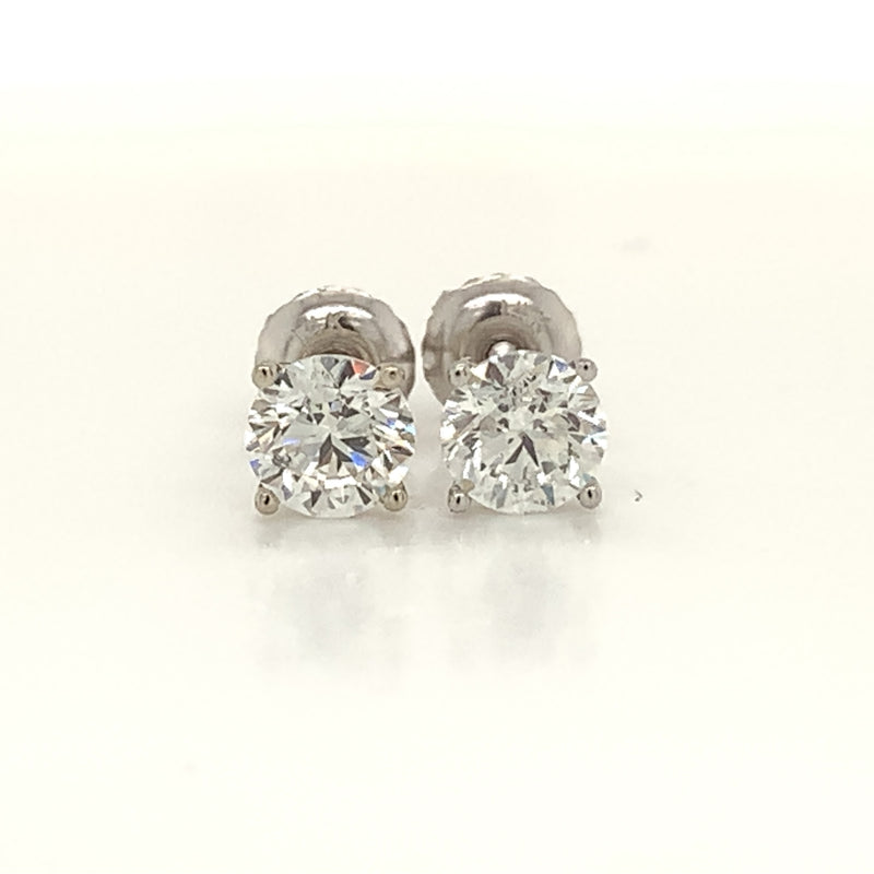 Natural Round Diamond Ear Studs