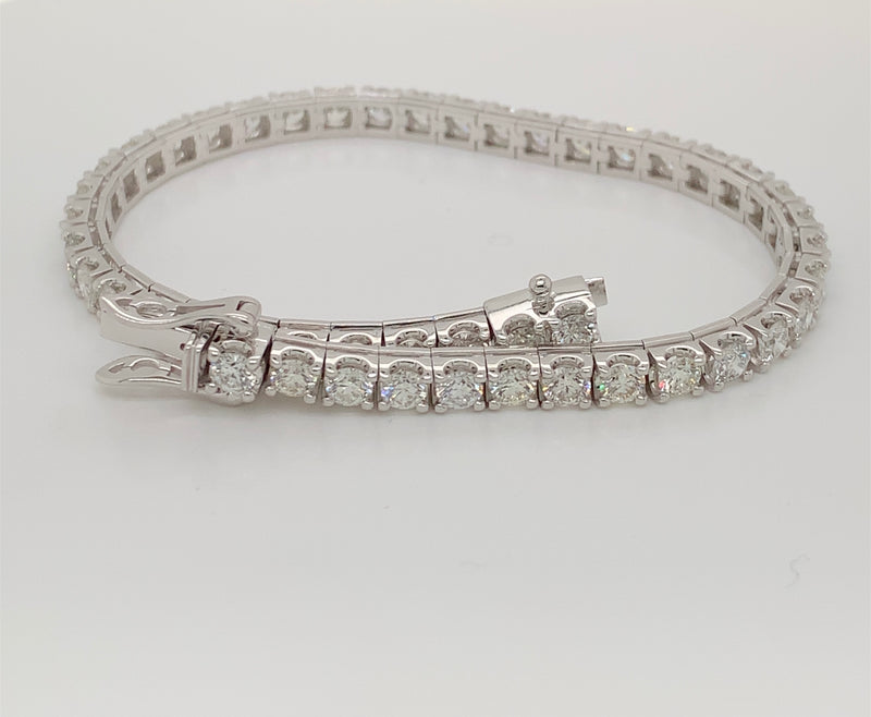 14KT. White Gold Diamond Tennis Bracelet