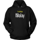 Womens Hoodie I'm Dating Nikolay (white print)