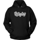 Womens Hoodie Let's Play (White print)