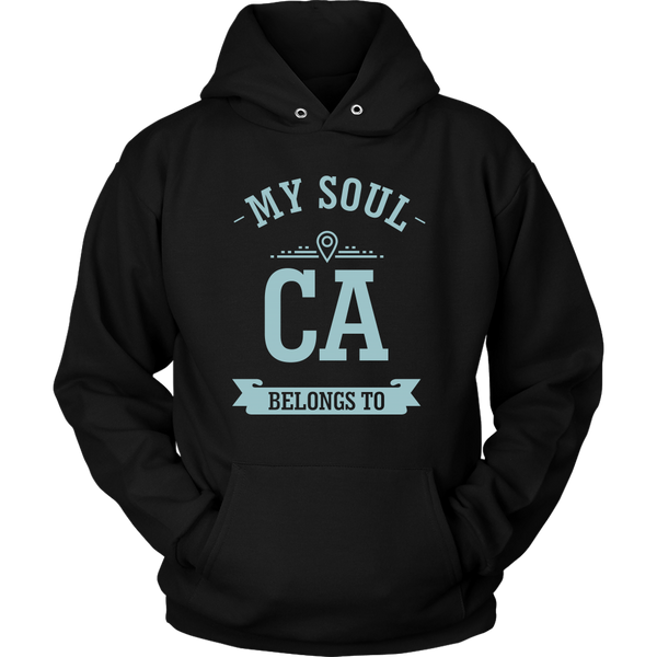 Unisex Hoodie My Soul Belongs To California T-shirt buy now