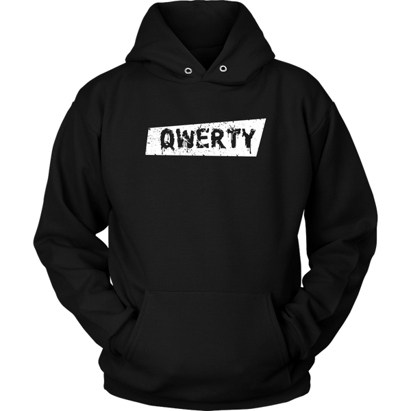 Unisex Hoodie QWERTY (White print) T-shirt buy now