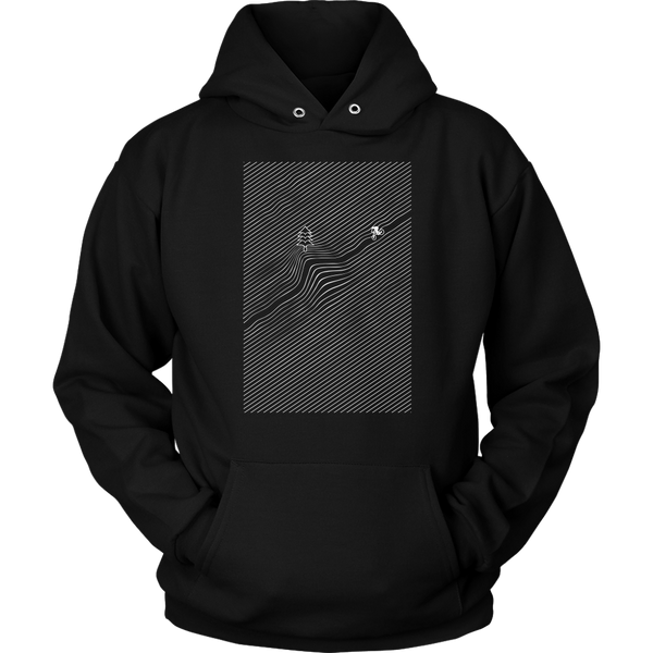 Unisex Hoodie Downhill Bike Mountains T-shirt buy now