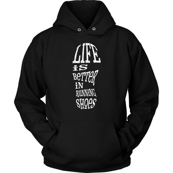 Unisex Hoodie Life Is Better In Running Shoes T-shirt buy now