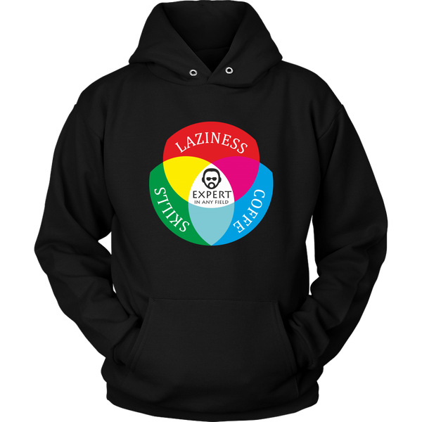 Unisex Hoodie Laziness Coffee Skills Expert T-shirt buy now