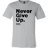 Mens Shirt Never Give Up S. Hawking (black print) T-shirt buy now