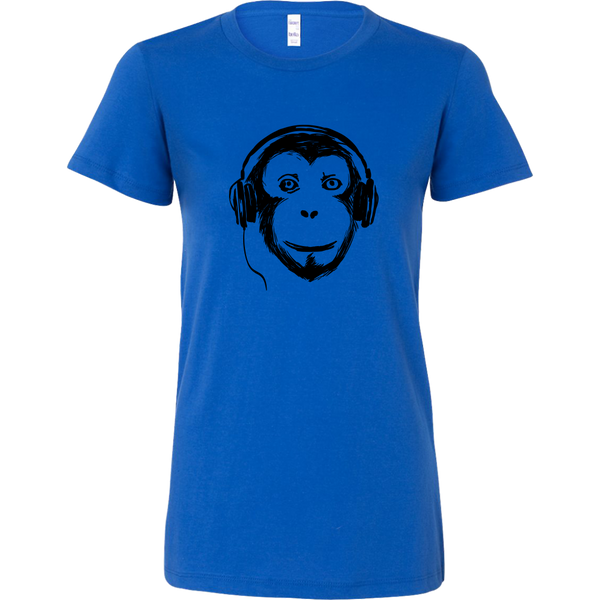 Womens Shirt Audio Monkey (black print) T-shirt buy now