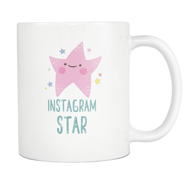White Mug Instagram Star2 Drinkware buy now