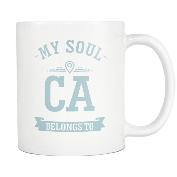 Mug My Soul Belongs To California Drinkware buy now