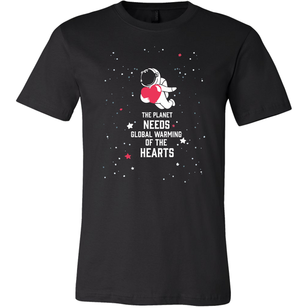 Mens Shirt The Planet Needs Global Warming Of The Hearts (white) T-shirt buy now