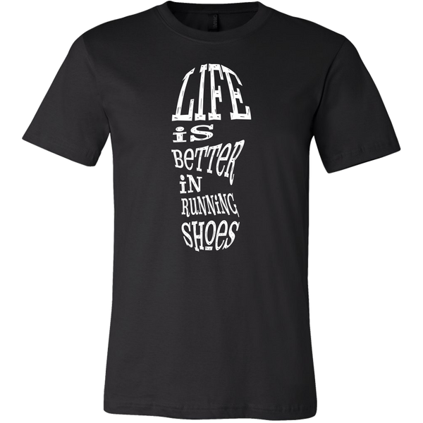 Mens Shirt Life Is Better In Running Shoes T-shirt buy now