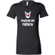 Womens Shirt Pardon My French (white)